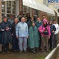 Neste recanto de colonização européia em Santa Catarina, caminhamos sob chuva e sol.